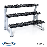 3-Tier Chrome Dumbbell Saddle Rack