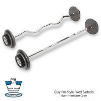 Fixed Grey Barbell Set