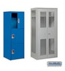 "Standard See-Through Metal Lockers - 12"" W"