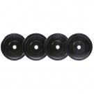 Premium Bumper Plates, Solid Black (pair) - Various