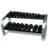 Deluxe 2-Tier Dumbbell Rack