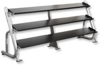 YORK 3 Tier Flat Shelf Dumbbell Rack