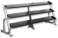 YORK 3 Tier Flat Shelf Dumbbell Rack