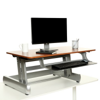 InMovement Standing Desk (Dark Wood)