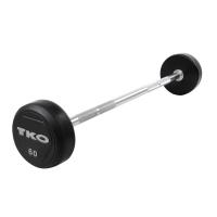 TKO Rubber Straight Barbells - 805RR