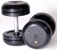 Troy Rubber Encased Pro Style Dumbbells 5-50lb Set