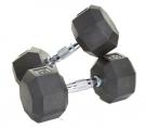 8 Sided Rubber Encased Dumbbells - 50-100 lbs