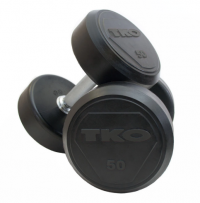 Solid Steel Rubber Dumbbell