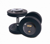 TROY Pro Style Dumbbells - Black 5-100 lbs