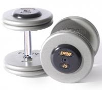 TROY Pro Style Dumbbells - Hammertone Gray 5-50 lbs