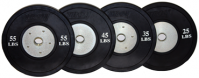 """Premium Grade Olympic 2"""" Rubber Bumper Plate with Steel Insert"""