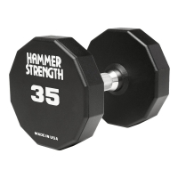 Hammer Strength 12-Side Urethane Dumbbells