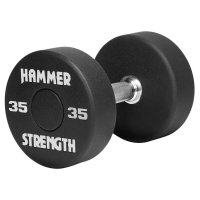 Hammer Strength Round Urethane Dumbbells