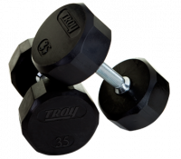 Troy 12 Sided Rubber Encased Dumbbells - 3lbs